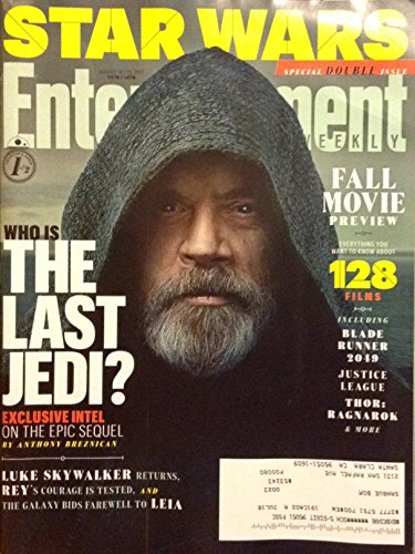 Entertainment Weekly Magazine (August 18/25 2017) Mark Hamill Luke Skywalker Who Is The Last Jedi Cover