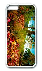 Autumn forest autumn leaves on the grass PC Transparent Hard Case for Apple iPhone 6(4.7 inch)
