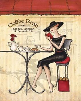 Femme elegante ii moderne pour femme caf vintage classic Poster cuisine moderne