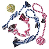 Best Rope Toy For Dog Puppies - TOYSBOOM 5 piece Dog Rope Toys Puppy Flossy Review