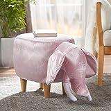 Rahele New Velvet Elephant Ottoman (Pink)