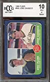 1986 fleer #649 JOSE CANSECO oakland athletics rookie card BGS BCCG 10 graded card