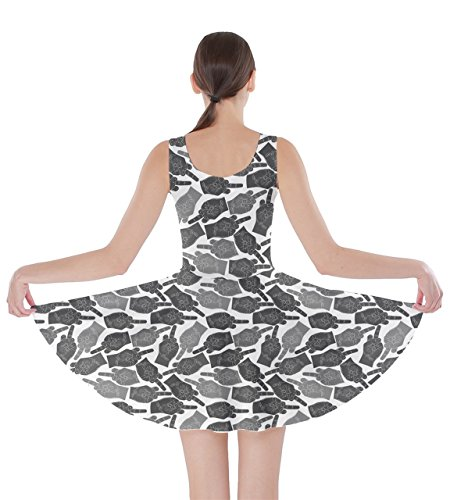 CowCow Finger Art Emotions Lips Shadow Skater Dress Face Middle Smile Finger 5XL XS Pop Hands Womens Emoji rSTqrw