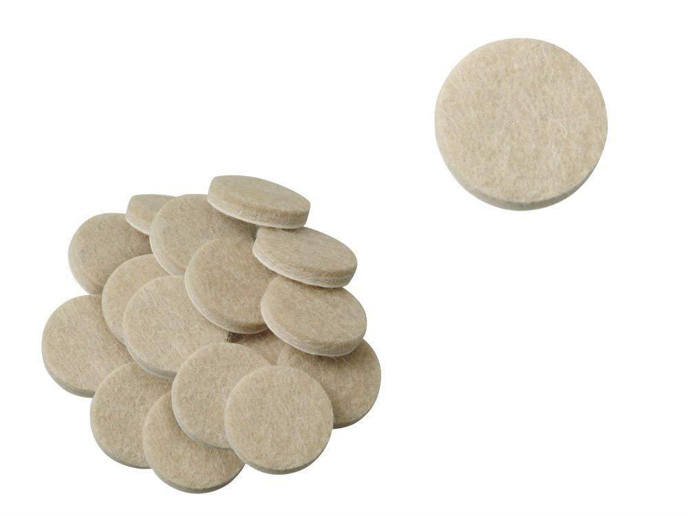 AKOAK 50 Pieces 3/4-Inch Furniture Round Felt Pads, Self-adhesive,To Protect the Furniture and Floors,Beige
