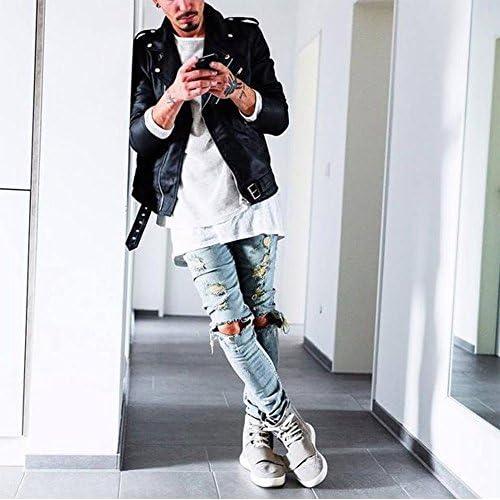 Mode Loisirs Homme Jeans Pantalon Denim Classique Avec Trou Casual Chaud  Nouveau 5a3871c3ecee