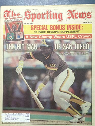 1984 The Sporting News July 23 Tony Gwynn (First Cover) w/Olympic Supplement (32 pg) Excellent (Excellent Supplement)