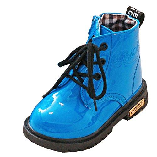 Calentita Niñas Azul Bota Martin Tobillo Piel Para Invierno Forrada Niños De gaorui A6Yxw4xB