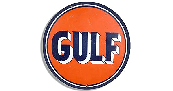 Amazon.com: Redondo de Golfo clásico Gas logotipo (Aceite de ...