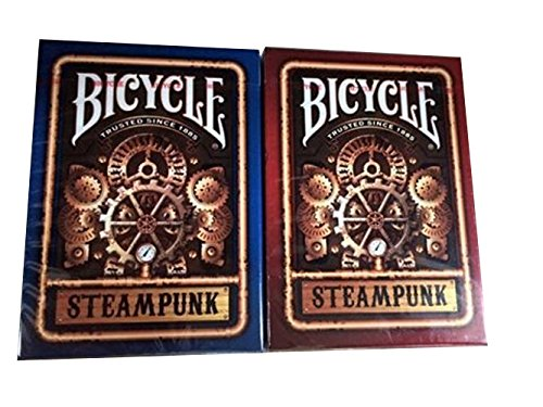 Bicycle Steampunk Playing Cards Lot 2 Red and Blue 3