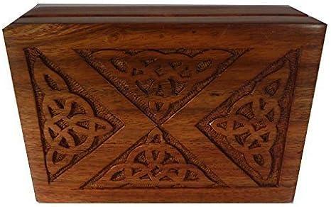 Diseño Celta grabado madera caja para joyería, recuerdos Baratijas O Tarot Tarjetas: Amazon.es: Hogar