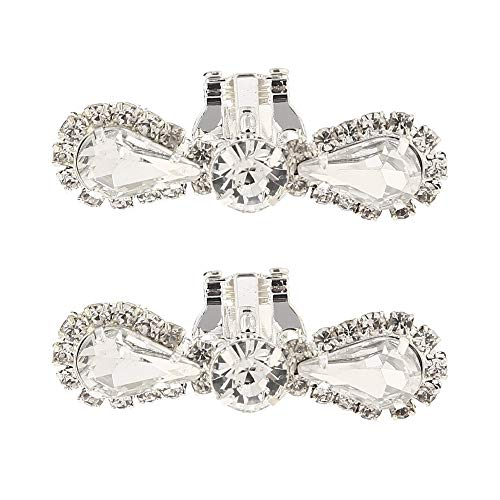 Charms Elegant Sparkling Crystal Shoe Clips Wedding Party Boots Decoration Shoe Charms 1 Pair (Color #3)