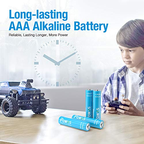 POWXS AAA Batteries(30 Count), Triple A Alkaline Batteries for household