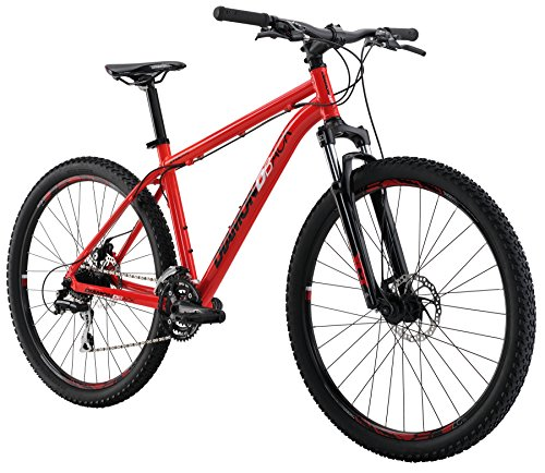 Diamondback Bicycles 2016 Overdrive Hard Tail Complete Mountain Bike, 27.5-Inch Wheels, Red,...