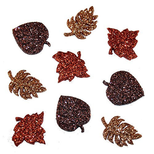 Autumn Leaves Magnets - Dress It Up Holiday Embellishments-Glitter Autumn Leaves