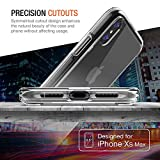 """Trianium Clarium Case Designed for Apple iPhone XS MAX Case (2018 6.5"""" Display ONLY) Reinforced Corner TPU Cushion and Hybrid Rigid Clear Back Plate Protection Covers [Enhanced Hand Grip] - Clear"""