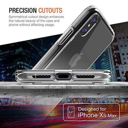 Trianium Clarium Case Designed for Apple iPhone Xs MAX Case (2018 6.5'' Display ONLY) Reinforced Corner TPU Cushion and Hybrid Rigid Clear Back Plate Protection Covers [Enhanced Hand Grip] - Clear by Trianium (Image #1)