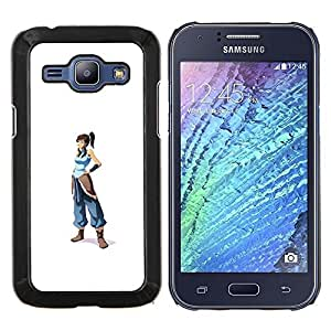 Stuss Case / Funda Carcasa protectora - Azul Guerrero chica - Samsung Galaxy J1 J100