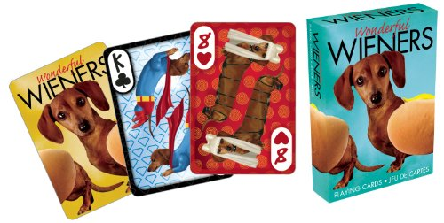 Aquarius Wonderful Wieners Playing (Dog Playing Cards)