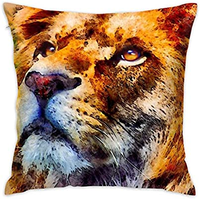LULABE Lion Animal Decorative Throw Pillow Modern Square ...