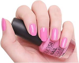 DuoYo Warm Rose Nail Polish Colors,Quick Dry Nail Polish for Women and Girls,15ml