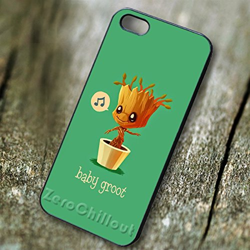 Best Guardians of the Galaxy Baby Groot for iPhone 7 Case - Wood Guardian Pc