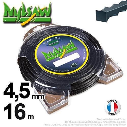 Ryobi-Desbrozadora inalámbrico nailon Nylsaw Dentón 4,5 mm, 16 m ...