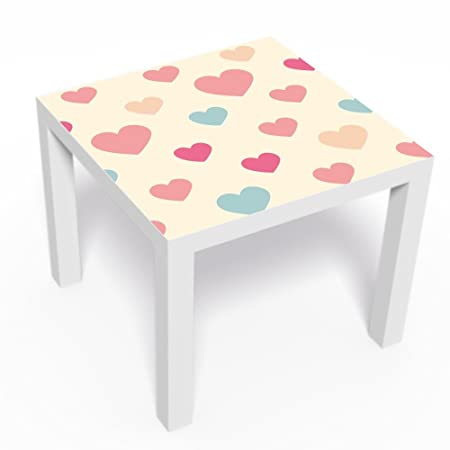 Serie Lack.Ikea Table Sticker Skin Furniture Decoration Heart Design For Series