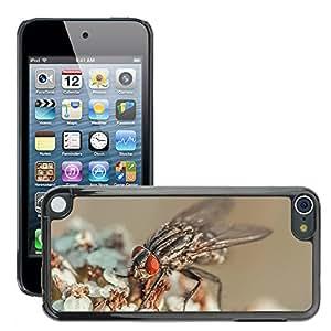Etui Housse Coque de Protection Cover Rigide pour // M00114101 Volar Insecto ojos compuestos Macro // Apple ipod Touch 5 5G 5th