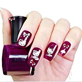 easy2rich 5 PCS 3D Nail Art Stickers Decals Tips