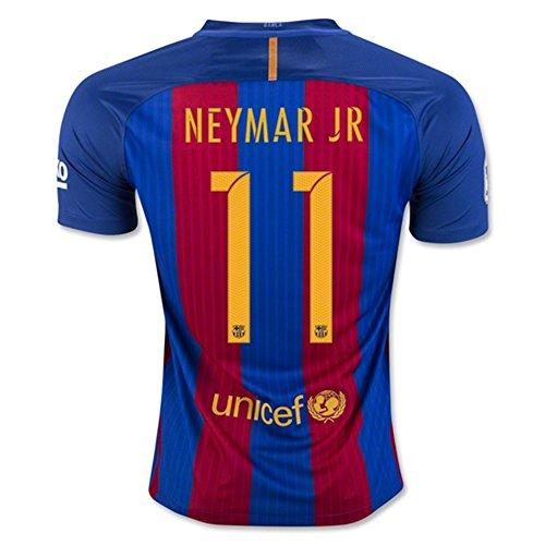 2016 2017 11 Neymar JR Home Football Soccer Jersey In Red Blue For New Season