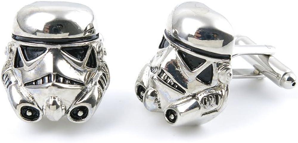 Men Boy Jewelry Cufflinks Cuff Links Party Favors Gift Wedding NE087 Star Wars Storm Trooper