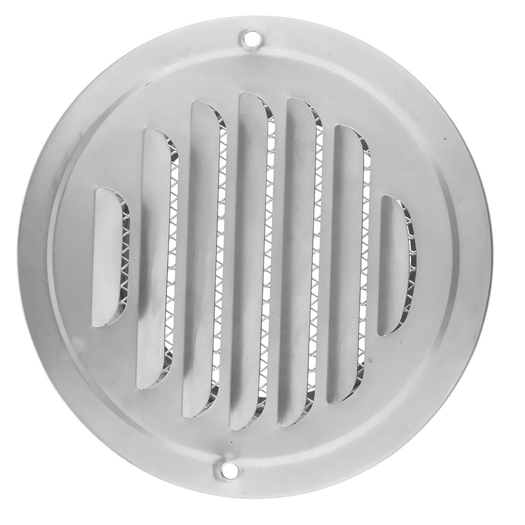 120mm Almencla Couvercle d/Évent Mural Conduit dA/ération de Sortie de Balle Grilles de Ventilation en Acier Inoxydable