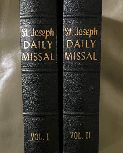 Saint Joseph Daily Missal 2 Volume Set -