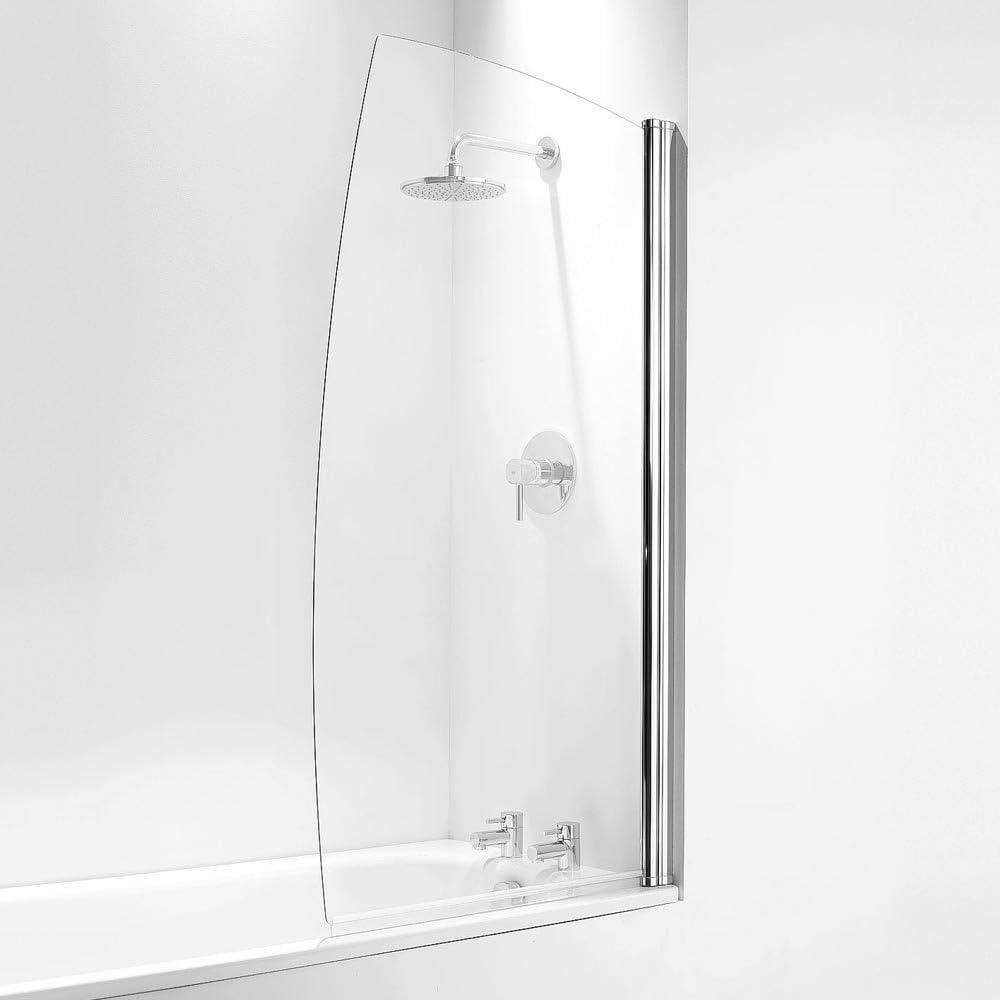 Coram Showers SFS80CUC - 1400Mm X 800Mm Mampara De Baño De 5 Mm De Espesor De Cristal Claro - Chrome: Amazon.es: Bricolaje y herramientas