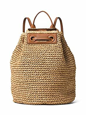 a3c42fbb0b82 Image Unavailable. Image not available for. Colour: MICHAEL MICHAEL KORS  Krissy Large Straw Backpack