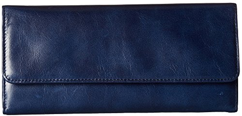 Hobo Womens Leather Sadie Continental Clutch Wallet (Indigo) by HOBO