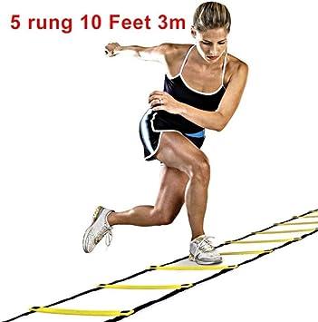 Na 5/8/10 correas de nailon para escaleras, escaleras de agilidad, escaleras de fútbol de alta velocidad, equipo deportivo de entrenamiento, 5 peldaños: Amazon.es: Deportes y aire libre