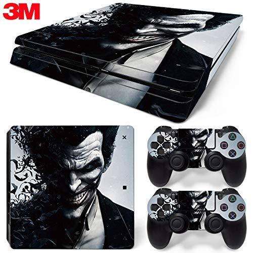 ZOOMHITSKINS PS4 Slim Skin Decal Sticker Joker Custom Design + 2 Controller Skins Set