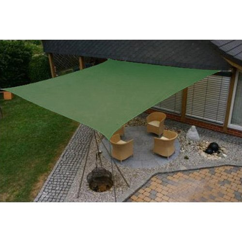 Modern Home Sail Shade Square (11.5' Sides) - Green by Modernhome