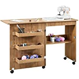 Kealive Foldable Sewing Table, Sewing Craft Table