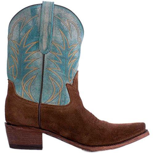 Corsia Spazzatura Stivali Gypsy Western Da Donna Cowboy Strada Sporca Sognatore Cioccolato Jg0003c Turchese