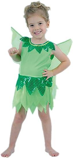 El Carnaval Disfraz niña Campanilla Peque 2-4 años: Amazon.es ...