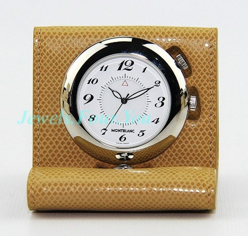 Biege Leather (MontBlanc Boheme Biege Leather Travel Alarm Clock)