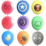 45 Pcs Superhero Latex Balloons,Children's Birthday Party Supplies,Avenger Superhero Balloon Decorations(9 Color Balloons)