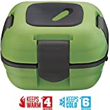 Lunch Box ~ Pinnacle Insulated Leak Proof Lunch Box for Adults and Kids - Thermal Lunch Container With NEW Heat Release Valve ~ Green