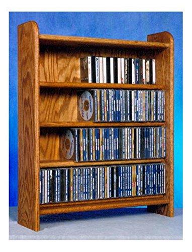 4 Shelf CD Storage (Dark) by Wood Shed