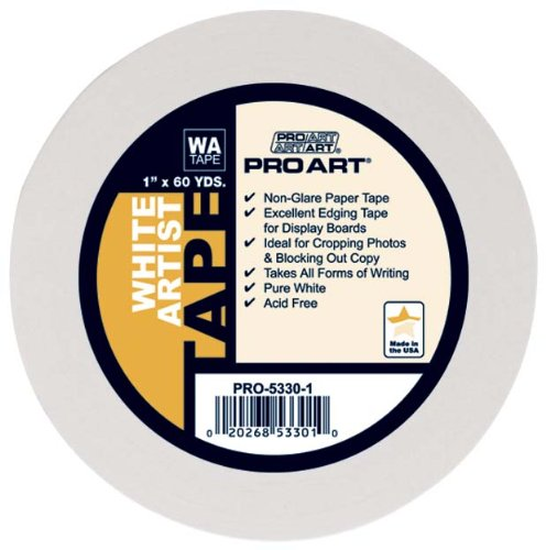 PRO ART 1-Inch by 60-Yards White Artist Tape (5330-1)