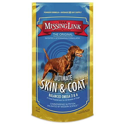 The Missing Link - Original All Natural Superfood Dog Supplement- Balanced Omega 3 & 6 to support Healthy Skin & Coat – Skin & Coat Formula – 1 lb. by The Missing Link