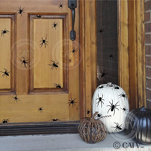 Halloween Spiders set of 40 vinyl lettering decal home decor wall art sticker -