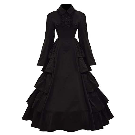 GRACEART Medieval Victorian Gothic Ball Gown Dress Cosutume: Amazon ...